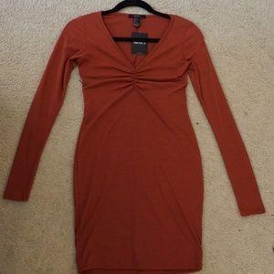 F21 Orange Bodycon Dress